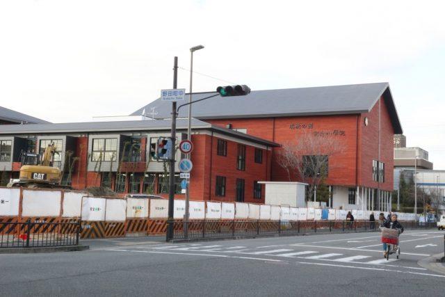 ▲建設途中の学校法人「森友学園」、「瑞穂の國記念小學院」